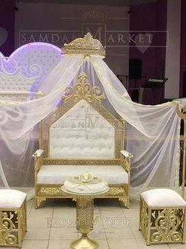 Prenses Kına Tahtı Model 7 Beyaz Set